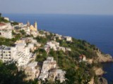 View of Praiano town - Click to go to the town